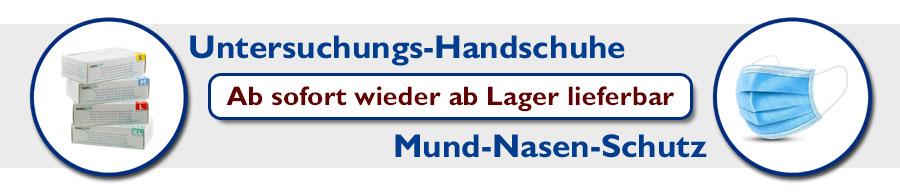 Banner Mundschutz und Handschuhe (lieferbar)