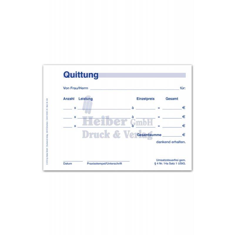 Quittung Steuerfrei Praxisorgade Online
